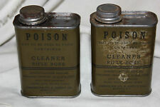 1 Vintage 1943 Can US WW2 Military Issue Full Bottle Rifle Bore Cleaner 6oz NOS