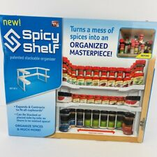 Spicy Shelf Stackable Organizer for Kitchen Cabinets Bathroom NEW Opened Box