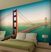 315x232cm wallpaper San Francisco photo wall mural bedroom green wall art decor