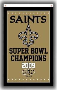 New Orleans Saints Football Team Champion Flag 90x150cm 3x5ft Super banner