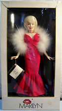 "1983 MARILYN MONROE 18"" Starlight Debut Red Gown with Maribou Boa World Doll MIB"
