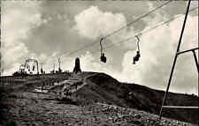 Feldberg Schwarzwald Partie mit Schwebelift Personen Lift s/w AK um 1950/60