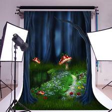 Fairy Forest Mushroom Vinyl 5x7ft Photo Background Studio Photography Backdrop