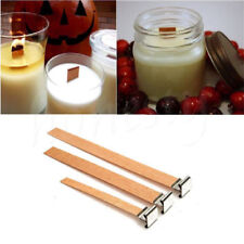 3/5PCS Wooden Candle Wick Core Wick With Iron Stand Making Party DIY Multi Size