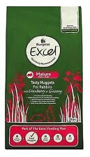 Mature Rabbit Food 2kg Burgess Excel Nuggets With Cranberry and Ginseng