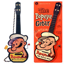 Popeye Guitar in Box 1950s by Mattel Unused Old Store Stock