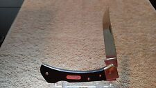VINTAGE PARKER-FROST 4 1/8 IN LOCK-BACK MUSTANG KNIFE, MADE IN USA, NEAR MINT