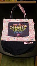 KIKI & LALA Little Twin Stars Purse Tote Book Bag Levi's Denim Love Peace Sanrio