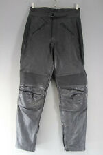 CLASSIC BLACK LEATHER BIKER TROUSERS - WAIST 32 INCHES/INSIDE LEG 30 INCHES