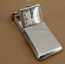 Silver Vertex Art Deco Pocket Purse Sliding Cover Travel Fob Watch 1936. NICE1