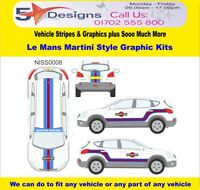 /fits Nissan Qashqai 2007-14 Le Mans Martini Race Rally Logo Graphics Kit 8