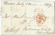 1809 wrapper  Thurso cancel with mileage. Signed Lord Caithness