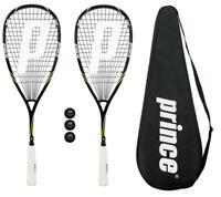 2 x Prince Pro Beast 650 Squash Rackets + Covers + 3 Squash Balls RRP £330