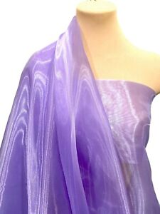 """MIRROR  ORGANZA POLY FABRIC LILAC 45   58"""" BY THE YARD, FORMAL, PAGEANT"""