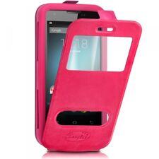 Etui Coque Silicone S-View Couleur rose fushia Universel XL pour Huawei Honor X5