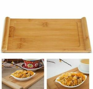 Natural Bamboo Tea Tray Rectangle Food Snacks Dessert Serving Tray Chinese Style