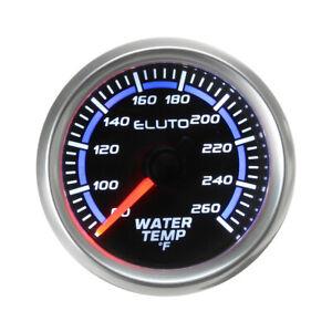 "US 2"" 52mm Water Temp Gauge Meter 80- 260℉ Black Face LED Display Universal 12V"