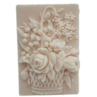 Silicone Soap Molds Craft Flower Flexible DIY Candle Making Mould Handmade Mold