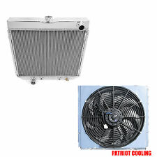 "1970-1977 Ford Maverick 4 Row Champion Radiator,Shroud & 16"" Fan"