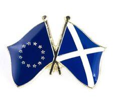 EU EUROPEAN UNION SCOTLAND SALTIRE EEC FRIENDSHIP FLAG ENAMEL PIN BADGE NEW