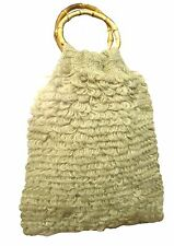 CONMIGO London b011 Marrone Naturale HAND Knitted FASHION Bags