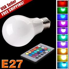 E27 9W 16 Colors Changing LED RGB Magic Light Bulb + Wireless Remote Control