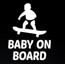 Skareboard baby on board cool skate van voiture fenêtre autocollant beaucoup de couleurs vw jdm