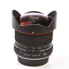 8mm f3.5 Manual Fixed Fish Eye Fisheye Lens Fr Canon 700D 650D 600D 7D 70D 1000D