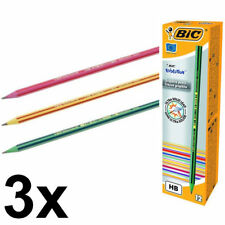 3 x BIC 646 Evolution Ecolution Pencil Boxes (36 Pencils)