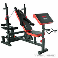 TrainHard® Multifunktion Kraftstation Hantelbank Trainingsbank Fitnessstation