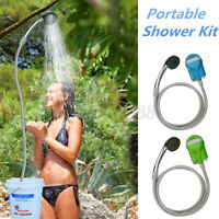 USB Portable Shower Water Pump Outdoor Travel Camp Rechargeable Automobile Green