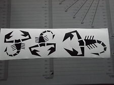 FIAT abarth scorpion logo x3  graphics vinyl  wing mirror / PANEL