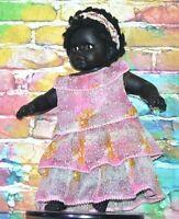 Vintage Black Girl Doll Baby Dark Skin African Ethnic Aboriginal Antique RARE