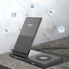 Portable Magnetic Charger Stand Mobile Phone Dual Wireless Charging Station Pad