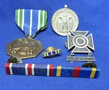 Vietnam War Sterling Army Pistol Sharpshooter Badge, Merit Badge & Ribbon Bars