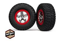 Traxxas 5867 BF Goodrich Mud-Terrain T/A KM2 Tires Chrome, Red Beadlock Wheels