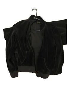 Juicy Couture Velour Tracksuit Black Small