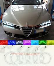 6pcs RGB Halo Rings For Alfa Romeo 159 05-11 LED Angel Eyes Demon headlight DRL