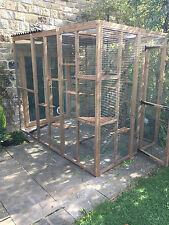 Catio / Cat Lean To Outdoor House Pet Enclosure Run with Shelves