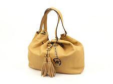 EUC Michael Kors Tan/Peanut Camden Large Drawstring Leather Shoulder Bag