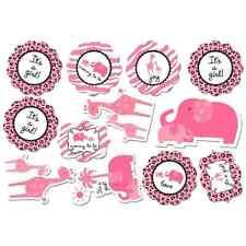 Sweet Safari Girl Pink Animal Print Cute Baby Shower Party Decoration Cutouts