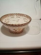New listing New Temptations Old World standing cake plate and chip&dip new 3 pieces Brown