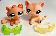 🐱Littlest Pet Shop🐱 RARE & HTF Shorthair Cat #1764 & Tabby #2603 & Accessories