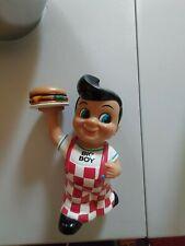 "Vintage 1999 Advertising Coin Piggy Bank BOB'S BIG BOY w Hamburger 8"" FUNKO"