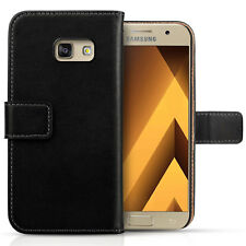Genuine Leather Wallet Case For The Samsung Galaxy A5 2017 Best Flip Folio Cover