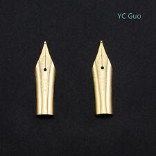2X Medium Nibs For Wing Sung 698 Fountain Pen Golden Color