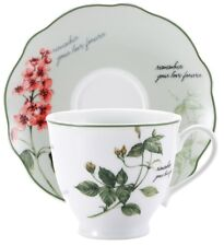 Set of 4. 2 Porcelain Tea Cup & 2 Matching Saucers in Gift Box Tea Cup & Saucers