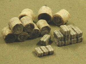 HAY BALES 35 pieces Round & square realistic fibre HO 1/87 Scale Bachmann 32502