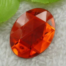 80pcs red acrylic Flatback Rhinestone Faceted oval Gems 40x30mm ZH213