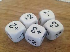 22mm somma DADI -1 +2 -2 +3 +4 +5 (Set di 5) - calcolo matematica risorsa D046